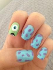 monsters nail art