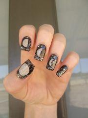 moon phases nail art
