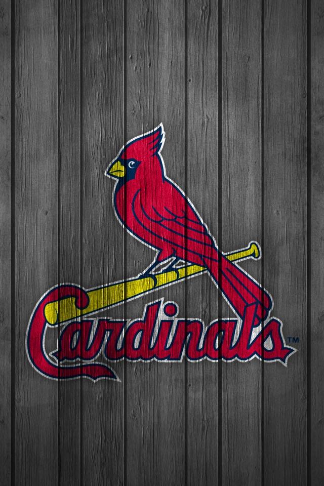 IPhone Wallpaper St Louis Cardinals Wood Baseball