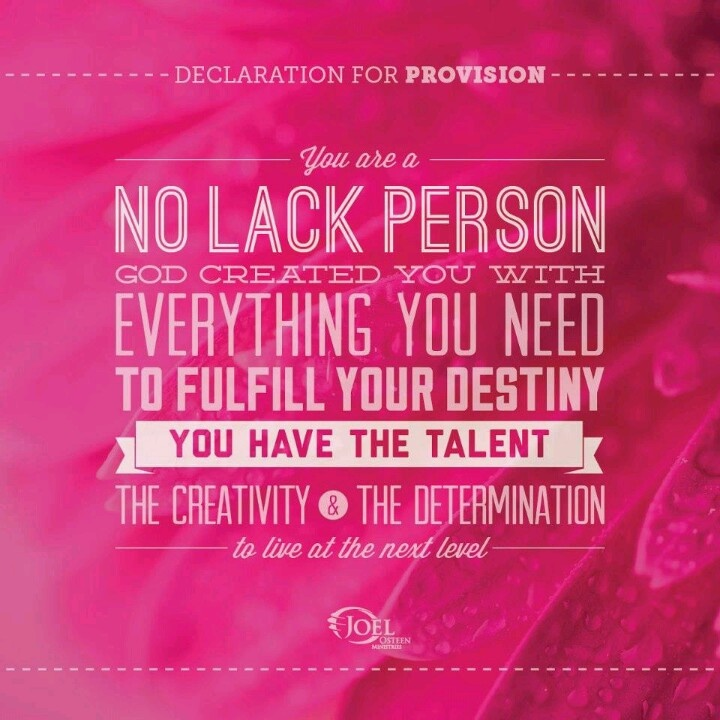 You Are A No Lack PersonGod Created You With Everything