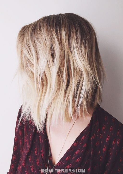 Textured Long Bob Haircut – Shoulder Length Hairstyle for Women and Girls