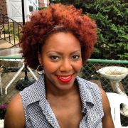 red curly natural hair caca