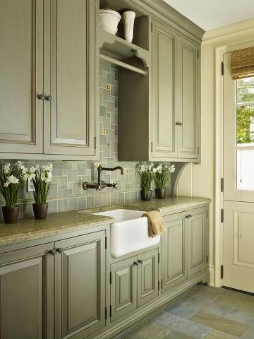 laundry room  Haven  Pinterest  Green cabinets Cabinet