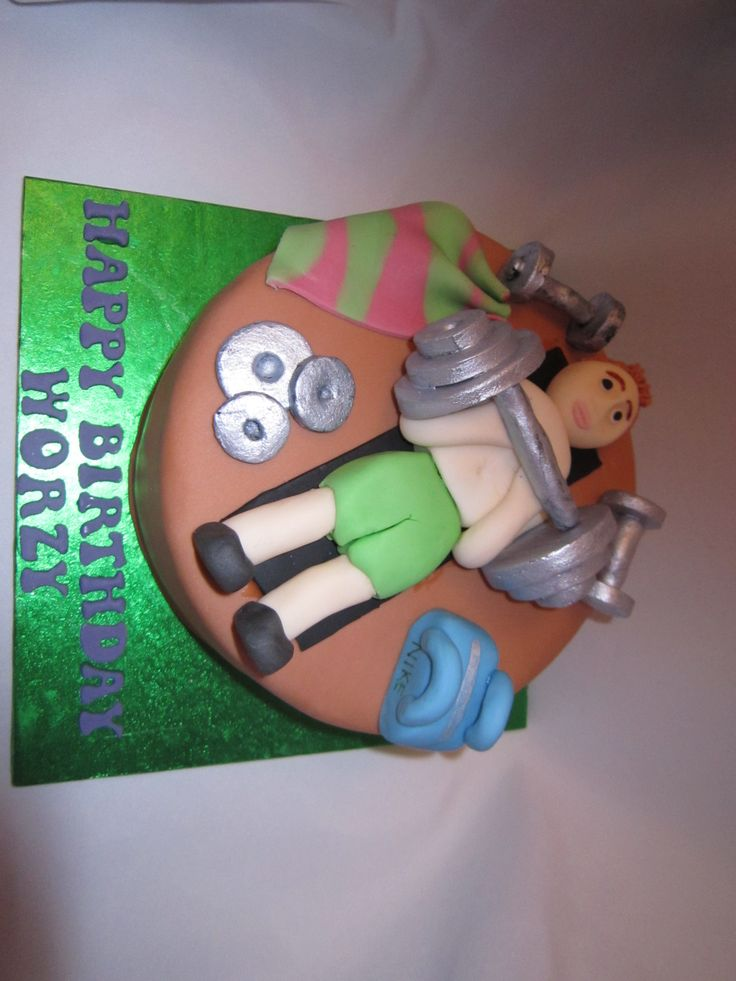 17 Best Images About Weight Lifting Cake On Pinterest