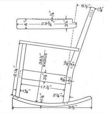 Rocking Chair Plans  GardeningIsh  Pinterest  Rocking