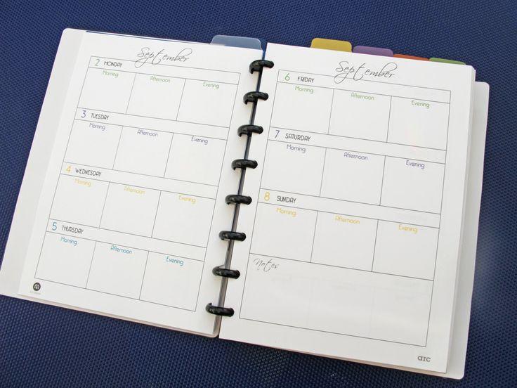 printable weekly planner 2013