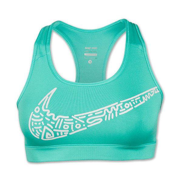 Womens Nike Pro Core Zip-Zam Training Sports Bra ($35) ❤ liked on Polyvore