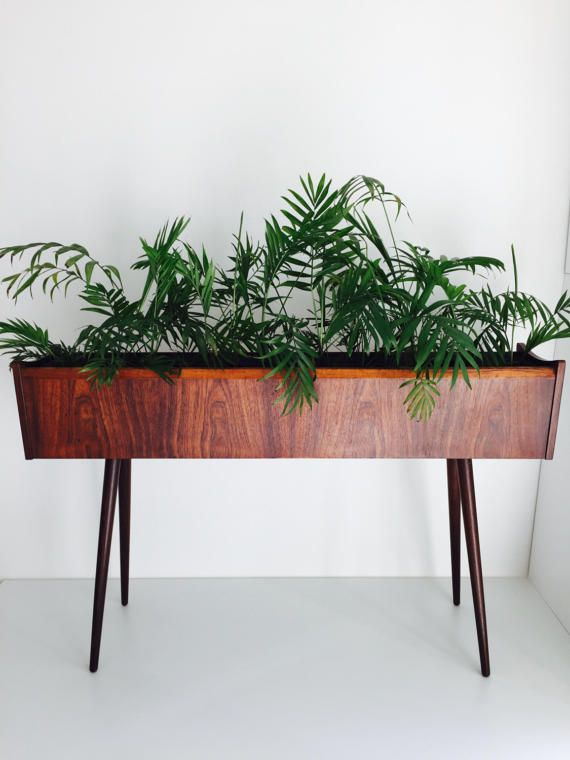 Midcentury Modern Danish Indoor Rosewood Planter / Plant stand