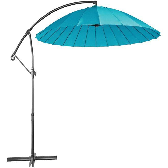 parasol excentre pour patio pi turquoise rona