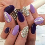 purple and lavender nails