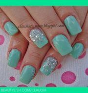 tiffany blue nail art beauty