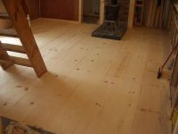 Considering a cheap, rustic wood floor - White Pine 1x12 ...