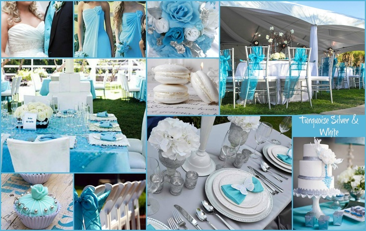 TURQUOISE WHITE & SILVER WEDDING Inspiration