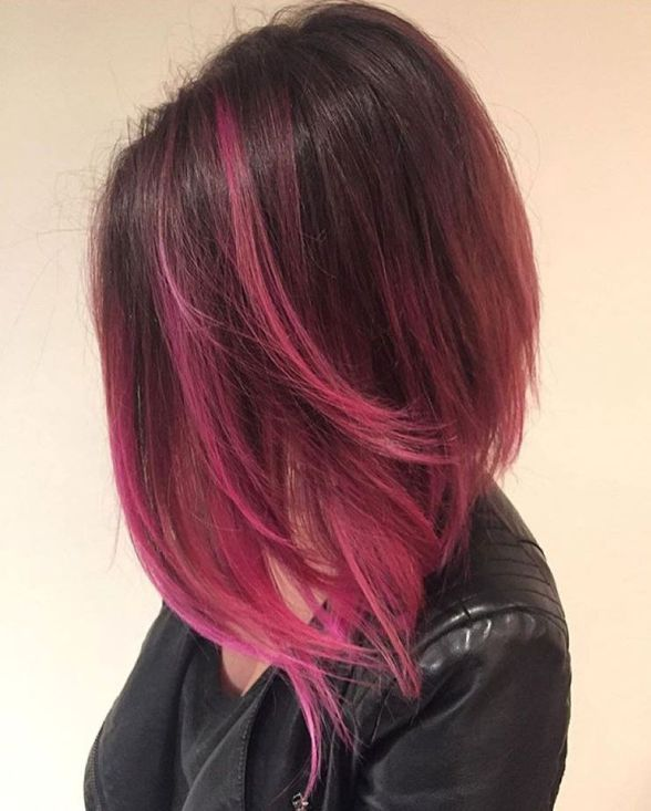 25 Best Ideas About Pink Hair Highlights On Pinterest Blonde