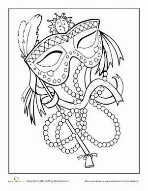 Mardi gras, Coloring and Coloring sheets on Pinterest