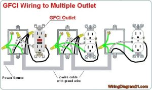 multiple gfci outlet wiring diagram | GFCI outlet wiring