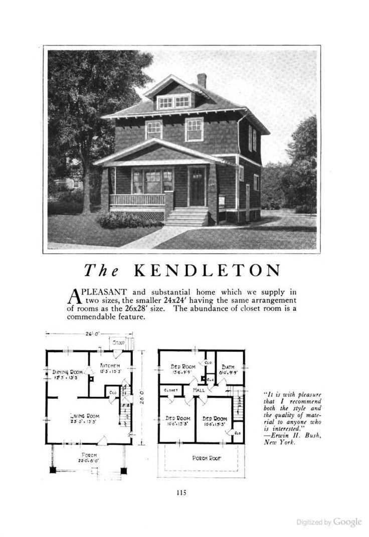 The Kendleton (an American Foursquare kit house/house plan