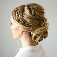 Best 25+ Waterfall braid updo ideas on Pinterest ...