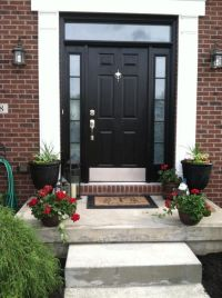 Top 25 ideas about Black Front Doors on Pinterest