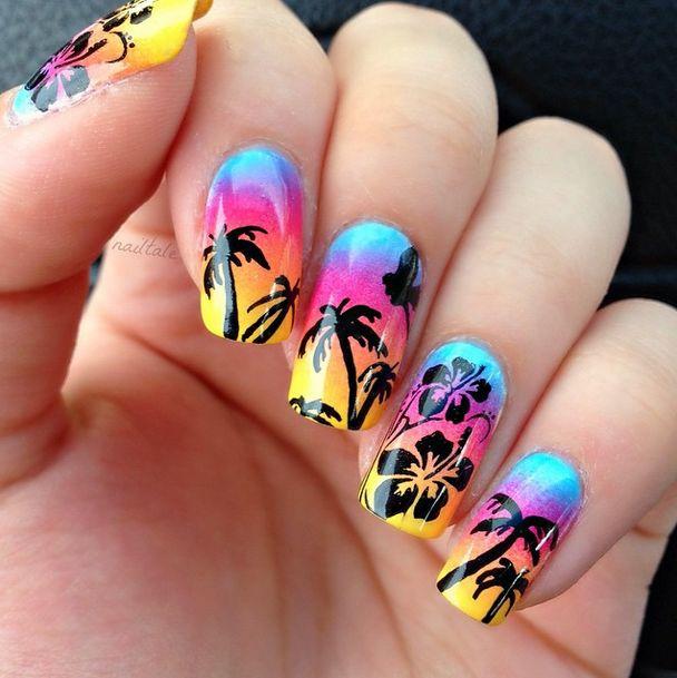 25+ Best Ideas about Hawaiian Nail Art on Pinterest