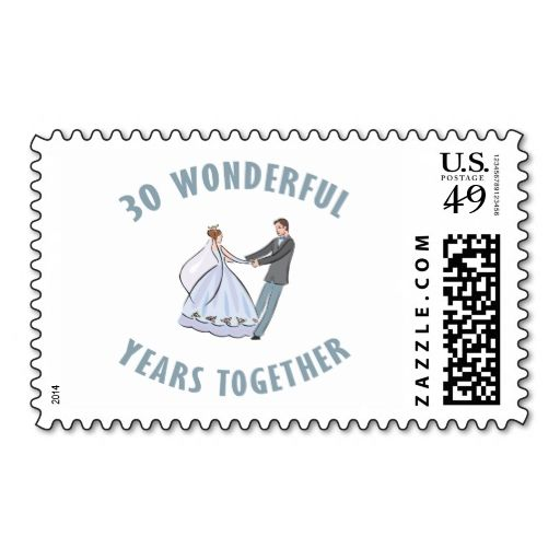 30th Wedding Anniversary Gift Postage. Make your own