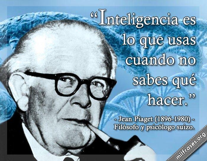 Jean Piaget filsofo y psiclogo suizo  Personajes