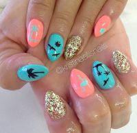 25+ best ideas about Flamingo Nails on Pinterest   Florida ...