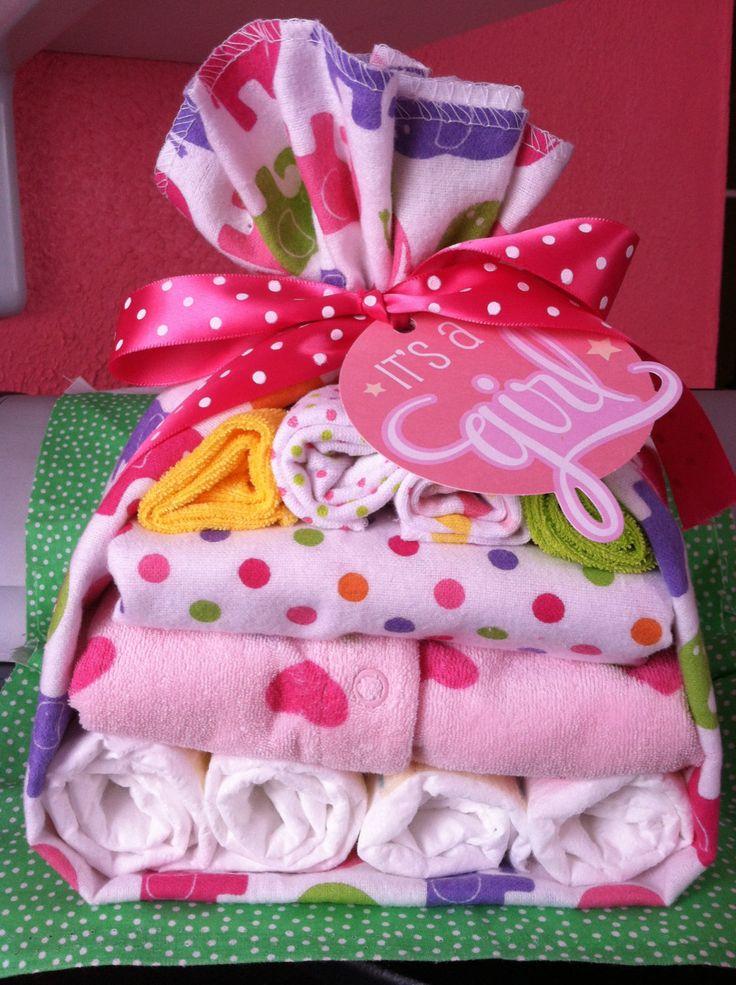 Diaper baby stork baby shower gift baby girl diaper cake