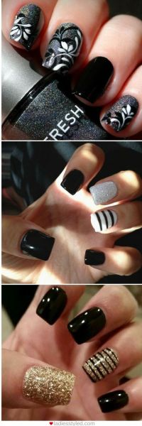 Best 25+ Dark nail designs ideas on Pinterest