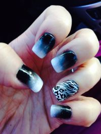 Black and white ombre nails | Style | Pinterest | White ...