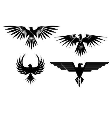 eagle-symbols-and-tattos-vector-482218.jpg 380×400 pixels
