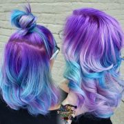 ideas galaxy hair