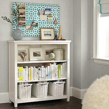 Beadboard 3 Shelf Bookcase Shelves White Wicker And Plays