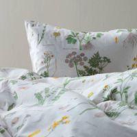 Ikea Strandkrypa Duvet Comforter Cover Set White Floral ...