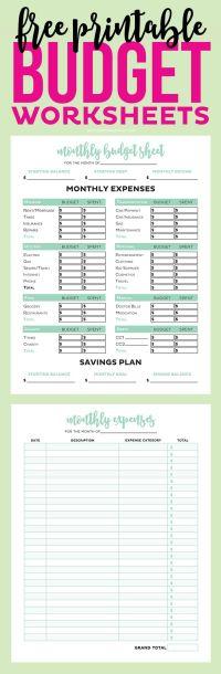 Best 20+ Budgeting Worksheets ideas on Pinterest | Budget ...