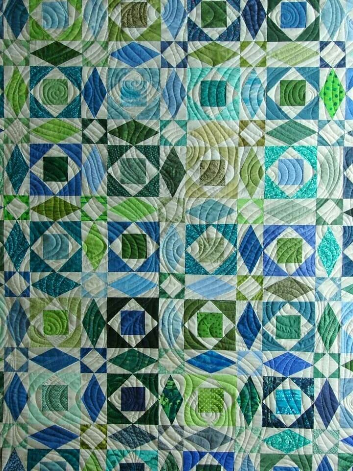 Storm At Sea Beautiful Quilting Long Arm Designs