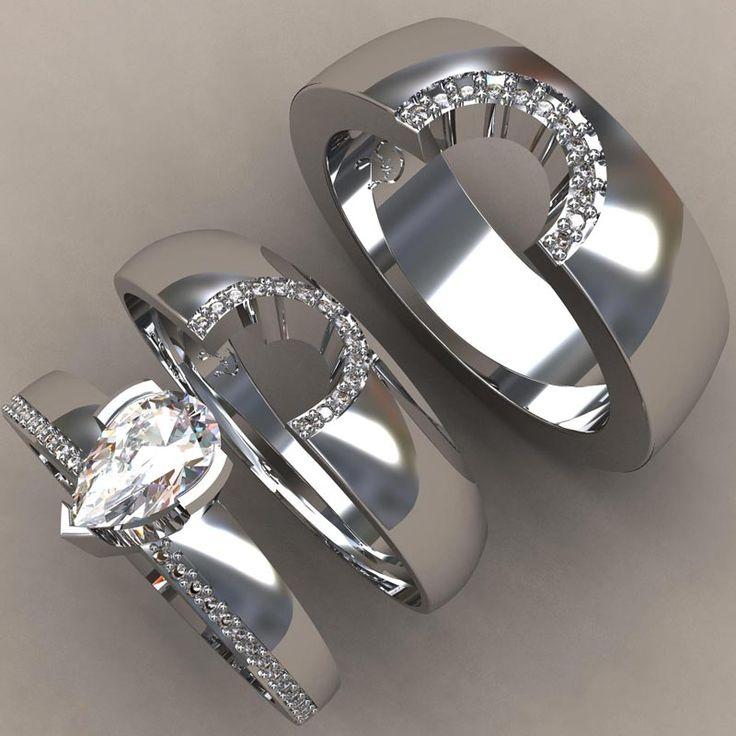 1000 ideas about Custom Wedding Rings on Pinterest