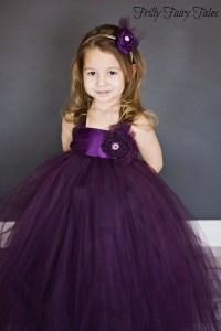 Plum Flower Girl Dress. $95.00, via Etsy. | Weddings ...