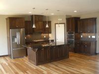 hickory flooring in kitchen | LDK Kitchen featuring Walnut ...
