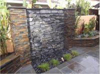 outdoor waterfall wall   Garden   Pinterest   Summer ...