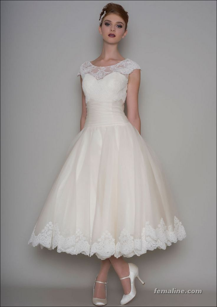 17 Best ideas about 50s Wedding Dresses on Pinterest  1950 wedding dress Short wedding dresses
