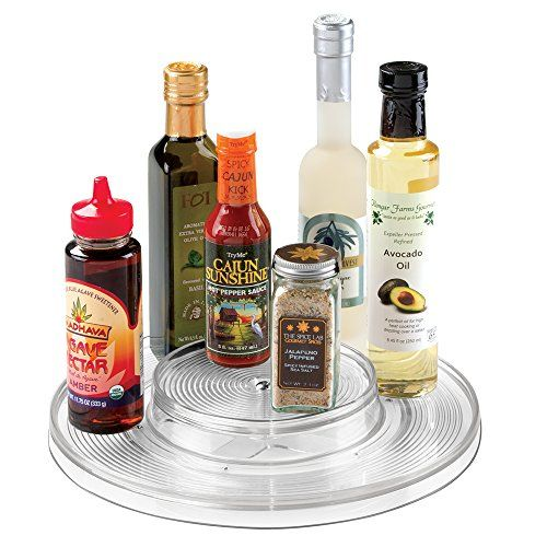 mDesign Kitchen Lazy Susan Turntable Cabinet Spice