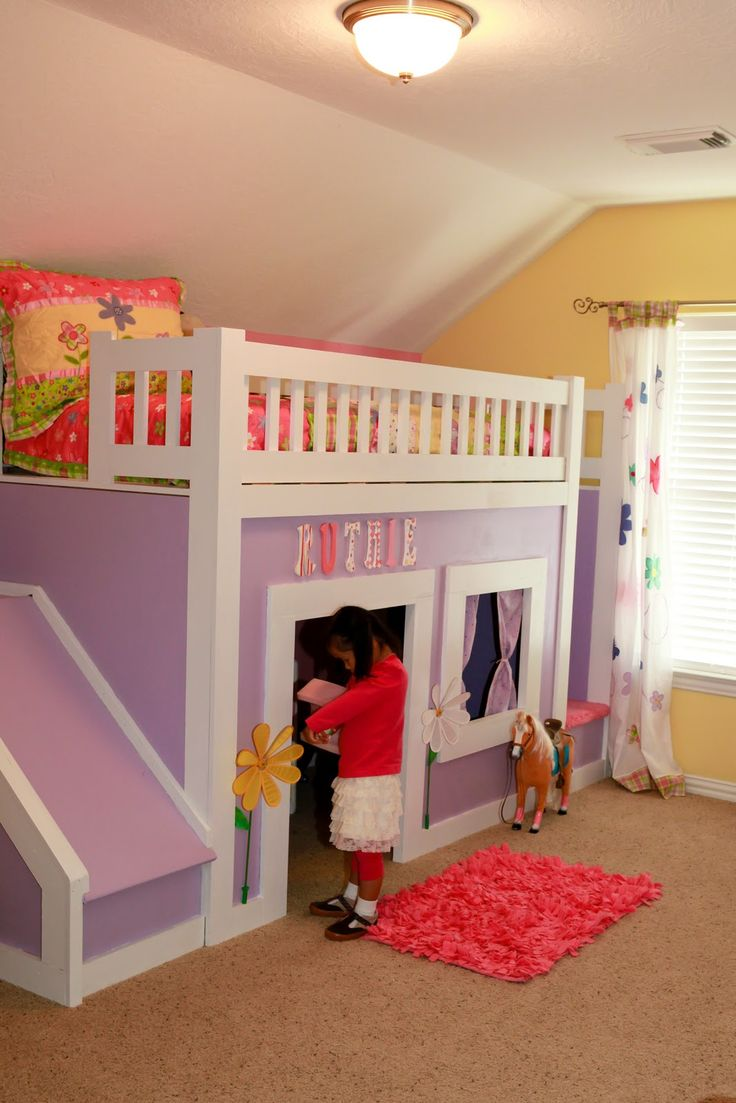 Princess Bed with Stairs and Slide  Do It Yourself Home