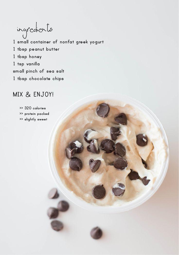 Cookie dough Greek yogurt. This one has the actual recipe