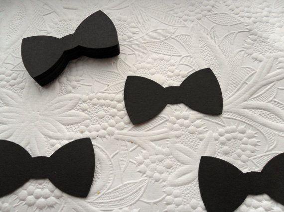 50 Black Bow Tie Die Cuts