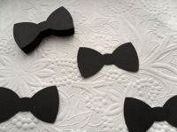 50 Black Bow Tie Die Cuts-Mustache and Bow Tie Party Decor ...