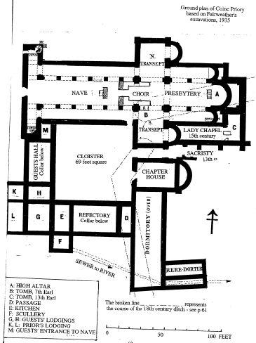 Priory Earls Colne. Aubrey de Vere, grandfather of the