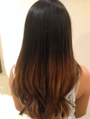 asian straight hair ombre