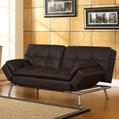 Living Room With Black Leather Sofa Ideas Battery Powered Lamps Belize Java Bonded Euro Lounger | A La Maison ...