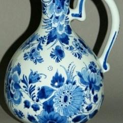 Glass Round Kitchen Table Home Depot Tile Delft Blue Vase Jug Porceleyne Fles Holland | Ebay Dutch ...